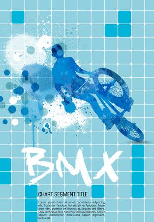 BMX, extreme sport vector illustration Vector
