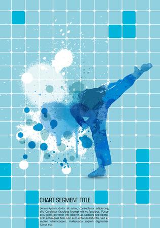 kyokushin: Sport vector illustration Illustration