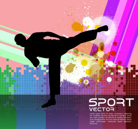 kyokushin: Sport, karate, vector