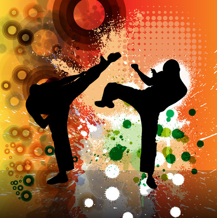 tae: Sport. Karate illustartion Vectores