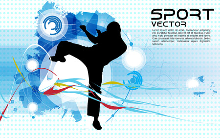 sidekick: Sport. Karate illustartion Illustration