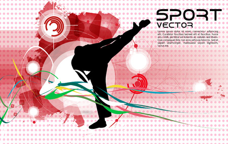 kwon: Sport. Karate illustartion Illustration