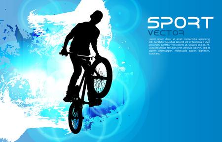 BMX. Sport vector illustration Vector