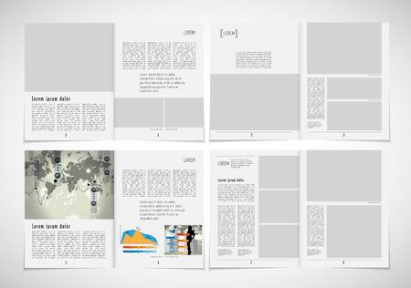 blank newspaper: Layout magazine, vector