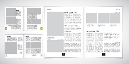 newspaper reading: Layout magazine, vector