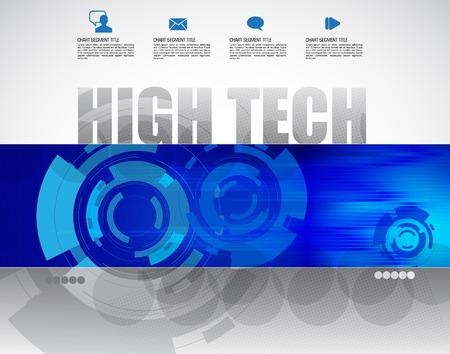 High-tech background, vector