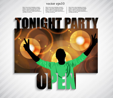 Music event illustration, vector