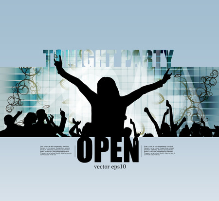 slovenly: Music event illustration, vector