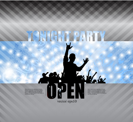 music event: Music event illustration, vector