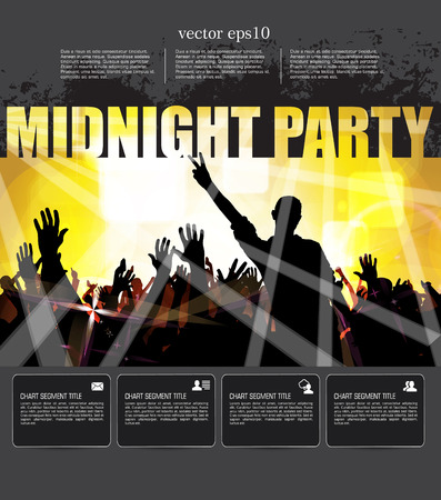 applauding: Dancing people. Party poster. Vector