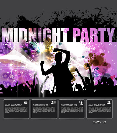 Party poster background, vector Illustration