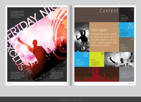 magazine page: Magazine layout design. Vector easy to editable
