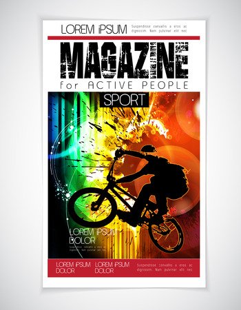 magazine cover: Vector brochure cover. Template.