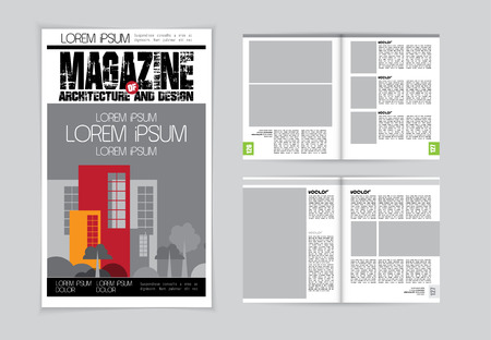 evening newspaper: Layout magazine, vector