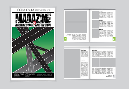 evening newspaper: Layout magazine, vector