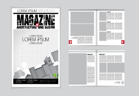 evening newspaper: Magazine layout. Vector Illustration