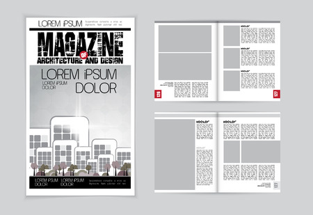 magazine: Magazine layout. Vector Illustration