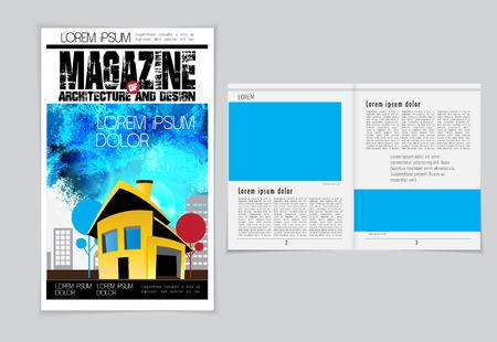 evening newspaper: Layout magazine. Editable vector Illustration