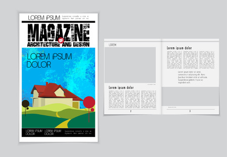 evening newspaper: Layout magazine. Editable vector Illustration