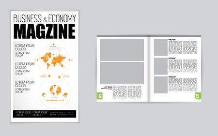 open magazine: Open magazine, vector Illustration. Illustration