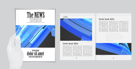 read magazine: Layout magazine, vector