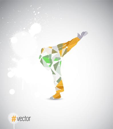 bloat: illustration of karate
