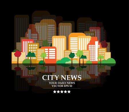 創造的な都市の景観、ベクトル  イラスト・ベクター素材