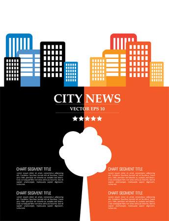 urban landscape: Creative urban landscape, vector