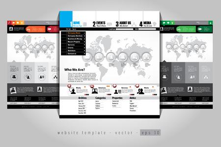 Web template, vector Vector