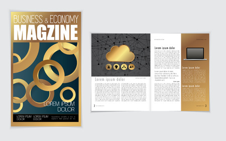 Layout of business magazine. Easy to editable vector