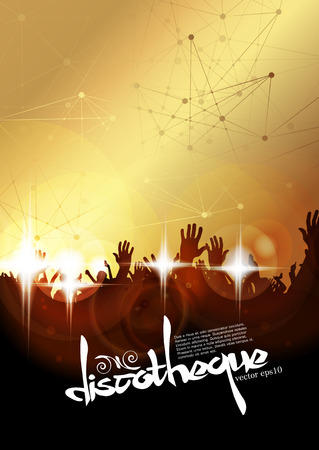 applauding: Crowd of people. Big party. Vector Illustration