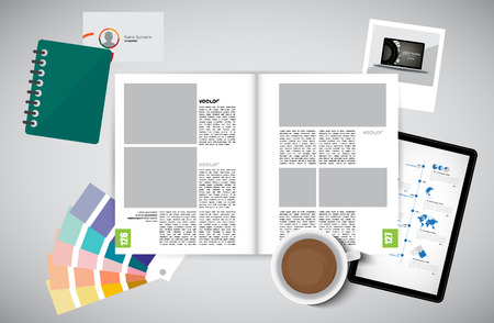 open magazine: Open magazine, vector Illustration