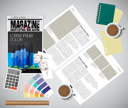 open magazine: Open magazine, vector Illustration