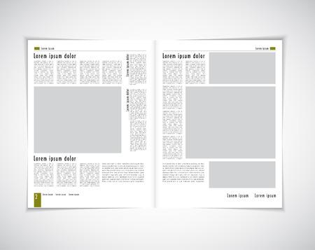Revista de diseño. Vectorial editable Ilustración de vector