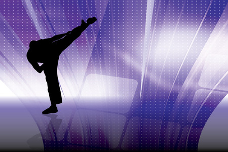 karate fighter: Karate illustration, vector