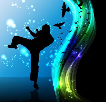kick boxing: Karate Illustration
