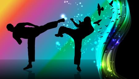 sidekick: Karate Illustration