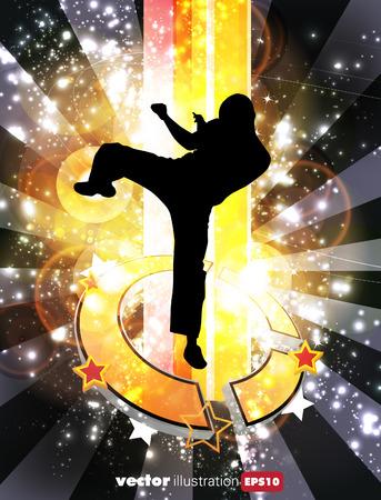 kyokushin: Karate. Vector background