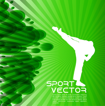 sidekick: Karate. Vector background