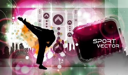kyokushin: Karate. Vector