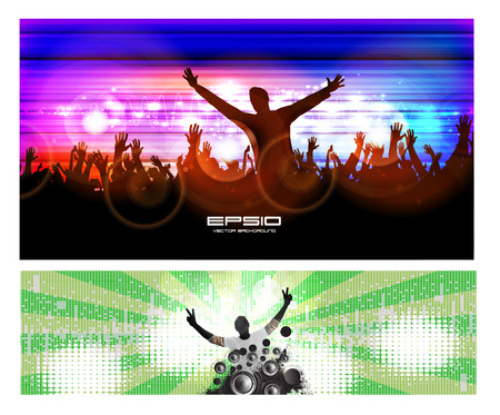 admiration: Night party background. Vector