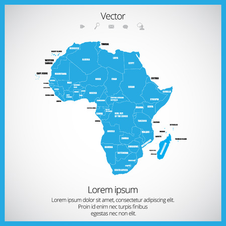 diagrammatic: Map of Africa