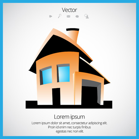 Simple color house Vector