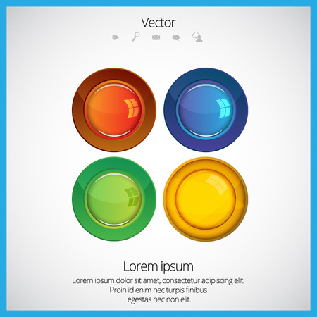 glossy buttons: Colorful glossy buttons
