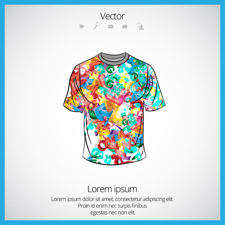 raglan: Vector. Mans t-shirt design