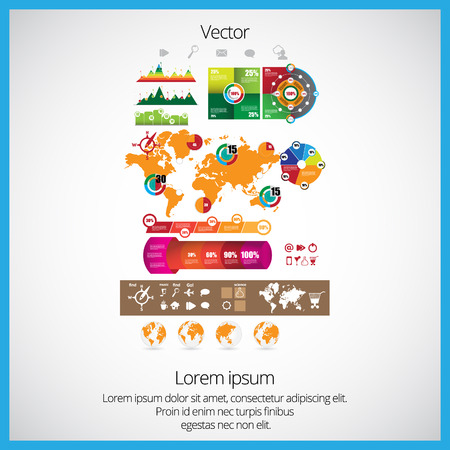 statistic: statistic elements Illustration