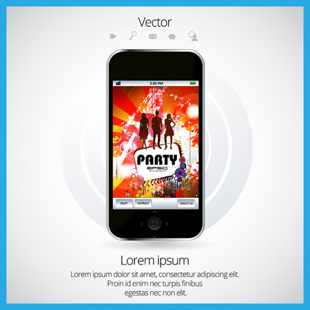 explotion: Mobile phone and colorful application icon