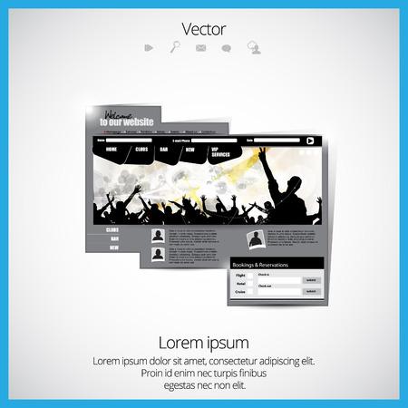 web portal: Event website template.