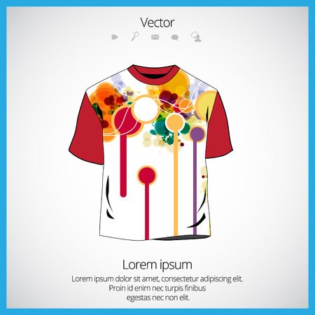 raglan: Vector. Man t-shirt design Illustration