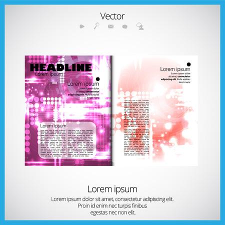 broshure: Layout magazine, vector